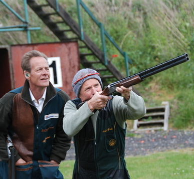 Two guests enjoying FITASC Shooting at Sporting Targets West London